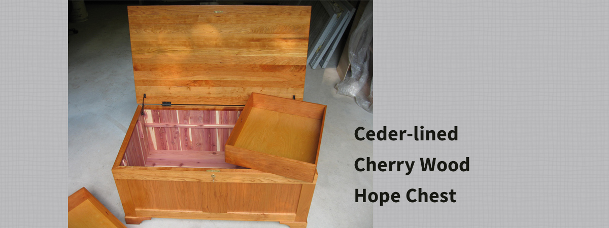 Ceder-lined Cherry Wood Hope Chest