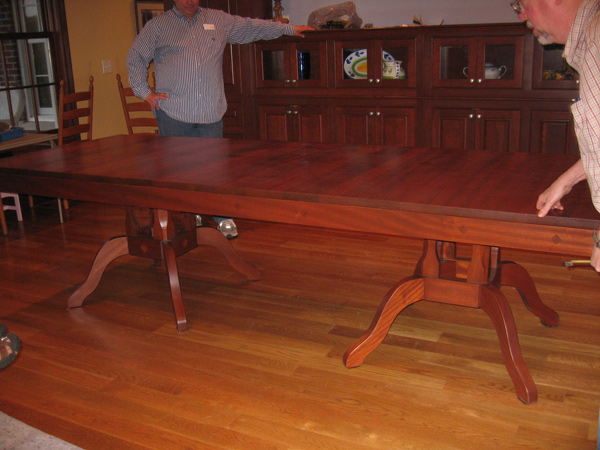 Double-Pedestal Expandable Dining Table