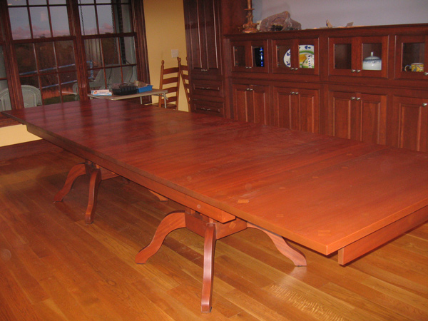 Expandable Dining Table Extended to its Full Length