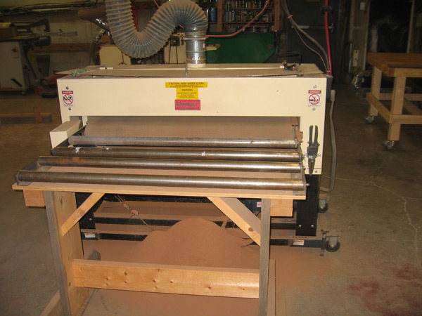 Drum Sander for Sanding Large Table Top Sections